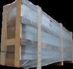 Cabine de peinture emballée caisse bois